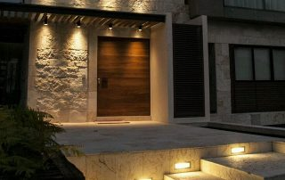 Luces de exterior escalera