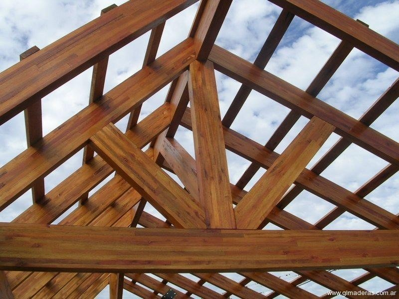 P rgolas y cenadores de madera aspectos t cnicos b sicos - Estructura madera laminada ...