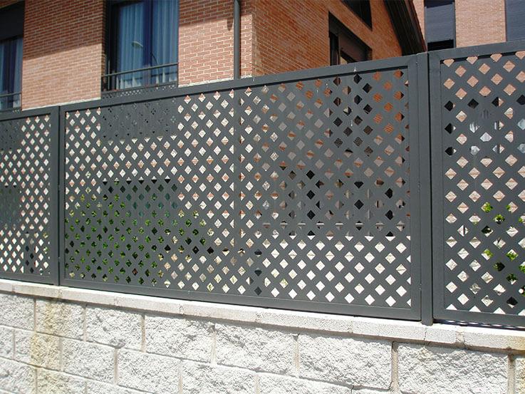 Cerramientos jardín - chapa metálica